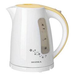Чайник SUPRA KES-1726, 1,7 л, 2200 Вт, закрытый нагревательный элемент, пластик, белый/<wbr/>желтый
