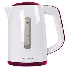 Чайник SUPRA KES-1728, 1,7 л, 2200 Вт, закрытый нагревательный элемент, пластик, белый/<wbr/>красный