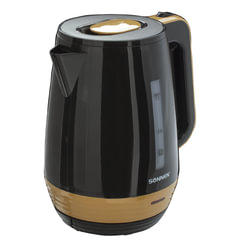 Чайник SONNEN KT-1776, 1,7 л, 2200 Вт, закрытый нагревательный элемент, пластик, черный/<wbr/>оранжевый