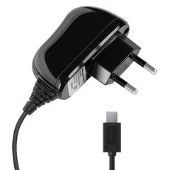 Зарядное устройство сетевое (220 В) DEPPA, кабель microUSB 1,2 м, выходной ток 2.1 А, черное