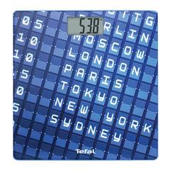 Весы напольные TEFAL PP2100V0, электронные, максимальная нагрузка 160 кг, квадрат, стекло, синие