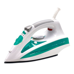 Утюг SUPRA IS-2406, 2400 Вт, терморегулятор, керамическое покрытие, самоочистка, автоотключение, белый/<wbr/>зеленый