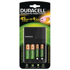 Зарядное устройство DURACELL CEF14 для 4 Ni-Mh аккумуляторов АА или AAA, +2 х AA 2500 mAh, 2 х AAA 850 mAh, заряд 45 минут