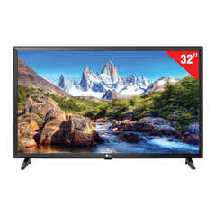 "Телевизор LG 32"" (81,2 см), 32LJ610V, LED, 1920×1080 Full HD, 16:9, Smart TV, Wi-Fi, 50 Гц, 3 HDMI, 2 USB, черный, 4,9 кг"