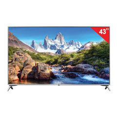 "Телевизор LG 43"" (109,2 см), 43UJ651V, LED, 3840×2160 UHD,16:9, Smart TV, Wi-Fi, 50 ГЦ, 4 HDMI, 2 USB, серебристый, 9,3 кг"