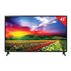 "Телевизор LG 43"" (109,2 см), 43LJ594V, LED, 1920×1080 FullHD, Smart TV, Wi-Fi, 50 Гц, HDMI, USB, черный, 8,1 кг"