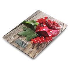 Весы кухонные SCARLETT SC-KS57P36 «Смородина», электронный дисплей, max вес 8 кг, тарокомпенсация, стекло