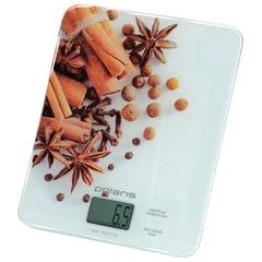 Весы кухонные POLARIS PKS 0832DG «Специи», электронный дисплей, max вес 8 кг, тарокомпенсация, стекло