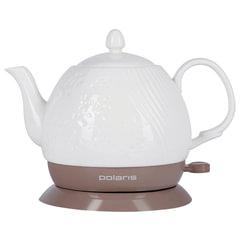 Чайник POLARIS PWK 1259CC, 1,2 л, 1200 Вт, закрытый нагревательный элемент, керамика, белый