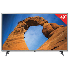 "Телевизор LG 49LK6100, 49"" (124 см), 1920×1080, Full HD, 16:9, Smart TV, Wi-Fi, серый"