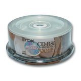 ���� CD-R TDK, 700 Mb, 52�, 25 ��., Cake Box