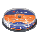 ���� DVD-R (�����) VERBATIM, 4,7 Gb, 16x, 10 ��., Cake Box
