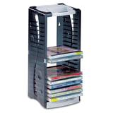 Подставка для CD/<wbr/>DVD BRAUBERG (БРАУБЕРГ), на 20 дисков, разборная, упаковка с европодвесом