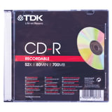 Диск CD-R TDK, 700 Mb, 52x, Slim Case