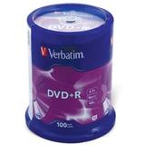 Диск DVD+R (плюс) VERBATIM, 4,7 Gb, 16x, 100 шт., Cake Box