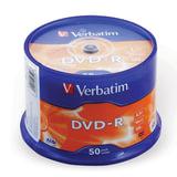 Диск DVD-R (минус) VERBATIM, 4,7 Gb, 16x, 50 шт., Cake Box