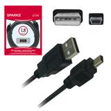 ������ USB — mini USB (5P) SPARKS, 1,8 �, ��� ����������� ����������� ���������