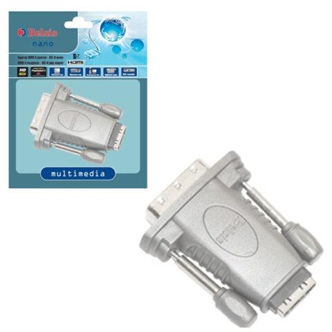Адаптер (переходник) HDMI A F (розетка) — DVI-D M (вилка), BELSIS
