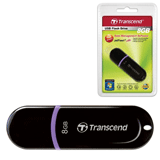 Флэш-диск 8 GB, TRANSCEND JetFlash 300, USB 2.0, черный