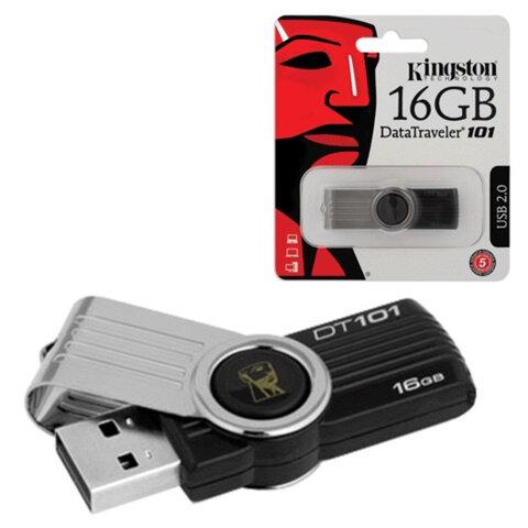 Флэш-диск 16 GB, KINGSTON DataTraveler DT101G2, USB 2.0, черный