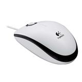 Мышь проводная оптическая LOGITECH M100, USB, 2 кнопки + 1 колесо-кнопка, цвет белый/<wbr/>черный