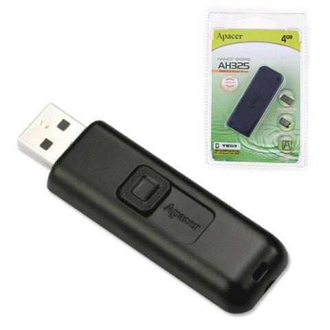 Флэш-диск 4 GB, APACER Handy Steno AH325, USB 2.0, черный