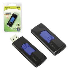 Флэш-диск 4 GB, APACER Handy Steno AH332, USB 2.0, черный