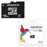 Карта памяти micro SDHC, 16 Gb, A-DATA, скорость передачи данных 4 Мб/<wbr/>сек. (class 4)