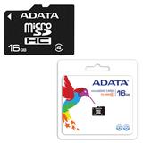����� ������ micro SDHC, 16 Gb, A-DATA, �������� �������� ������ 4 ��/<wbr/>���. (class 4)