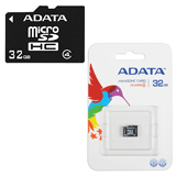 Карта памяти micro SDHC, 32 Gb, A-DATA, скорость передачи данных 4 Мб/<wbr/>сек. (class 4)