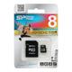����� ������ micro SDHC 8Gb SILICON POWER, �������� �������� ������ 6 ��/<wbr/>���. (class 6), � ���������