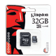 ����� ������ micro SDHC, 32 Gb, KINGSTON, �������� �������� ������ 10 ��/<wbr/>���. (class 10) � ���������