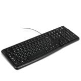 Клавиатура проводная LOGITECH K120, USB, черная