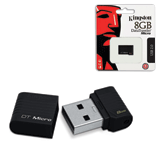 Флэш-диск 8 GB, KINGSTON Data Traveler Micro, USB 2.0, черный