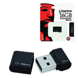 Флэш-диск 16 GB, KINGSTON Data Traveler Micro, USB 2.0, черный