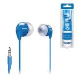 Наушники PHILIPS SHE3590BL/<wbr/>10, проводные, 1,2 м, стерео, вкладыши с шумоподавлением, голубые
