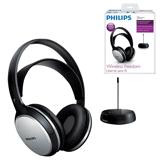 Наушники PHILIPS SHC5100/<wbr/>10, беспроводные, Hi-Fi, полноразмерные c оголовьем, с амбушюрами, радиус действия 100 м