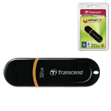 Флэш-диск 32 GB, TRANSCEND Jet Flash 300, USB 2.0, черный