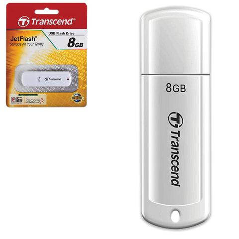 Флэш-диск 8 GB, TRANSCEND JetFlash 370, USB 2.0, белый