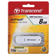 Флэш-диск 8 GB, TRANSCEND JetFlash 370, USB 2.0, белый