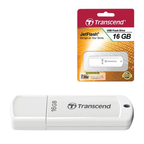 Флэш-диск 16 GB, TRANSCEND Jet Flash 370, USB 2.0, белый