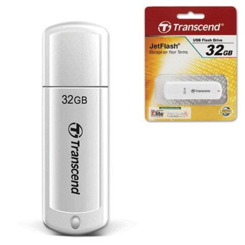 Флэш-диск 32 GB, TRANSCEND Jet Flash 370, USB 2.0, белый