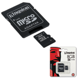 ����� ������ micro SDHC, 8 GB, KINGSTON, �������� �������� ������ 10 ��/<wbr/>���. (class 10), � ���������