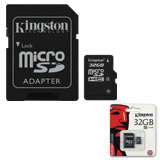 ����� ������ micro SDHC, 32 GB, KINGSTON, �������� �������� ������ 4 ��/<wbr/>���. (class 4), � ���������