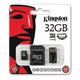 ����� ������ micro SDHC, 32 GB, KINGSTON, �������� �������� ������ 10 ��/<wbr/>���. (class 10), � 2 ���������� SD, USB