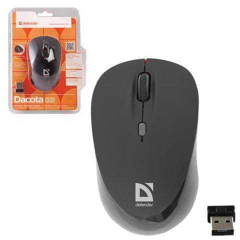 Мышь беспроводная DEFENDER Dacota MS-155, 2 кнопки + 1 колесо-кнопка, лазерная, черно-красная
