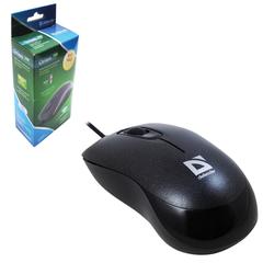 Мышь проводная DEFENDER Orion 300, USB, 2 кнопки + 1 колесо-кнопка, оптическая, черная