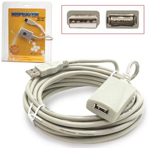 Кабель-удлинитель USB 2.0, 4,8 м, DEFENDER, M-F, с активным усилителем, для подключения периферии