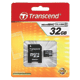 ����� ������ micro SDHC 32 GB TRANSCEND, �������� �������� ������ 4 ��/<wbr/>���. (class 4), � ���������