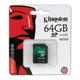 ����� ������ SDXC 64 Gb KINGSTON, �������� �������� ������ 10 ��/<wbr/>���. (class 10)